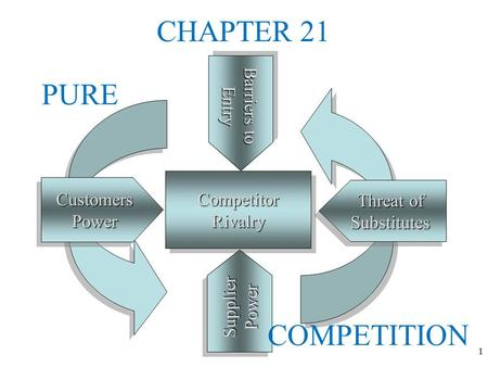 CHAPTER 21 PURE COMPETITION COMPETITION.