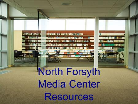 North Forsyth Media Center Resources. Destiny, the online card catalog Search Destiny, the online card catalog, by keyword, title, author, or subject.