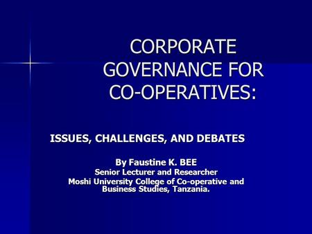 corporate governance issues and challenges United nations conference on trade and development selected issues in corporate governance: regional and country experiences united nations new york and geneva, 2003.