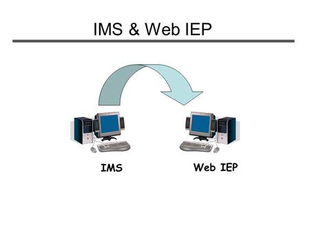 "IMS & Web IEP IMS Web IEP. Security Issues User Names and Passwords ""Permissions"" allow users different levels of accessibility 2 hour Time-Out The system."