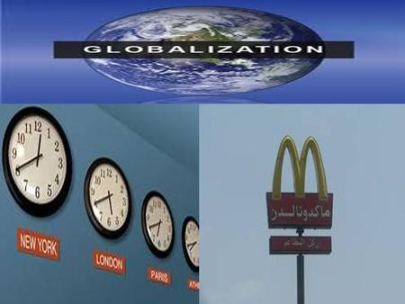 GLOBALISATION. Globalisation compresses time & Space. Growth in service Industries- finance, Business services, property, hospitality.