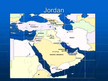 Jordan. Location Jordan is located in the heart of the Middle East, Northwest of Saudi Arabia, south of Syria, Southwest of Iraq, and east of Israel.