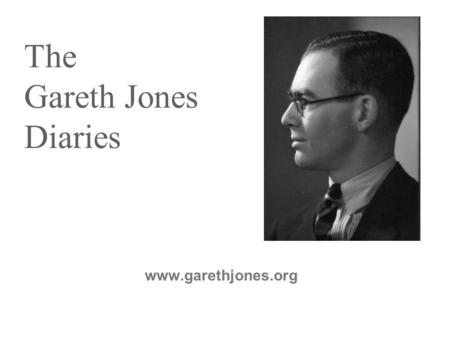 The Gareth Jones Diaries www.garethjones.org. 2003 - Duranty Postcard Revocation Campaign.