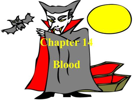 Chapter 14 Blood. Structure & Function Blood is a type of connective tissue (consists of cells in a matrix) Function – transports O 2 & nutrients, maintains.