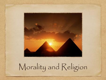 Morality and Religion. Does morality depend on religion?