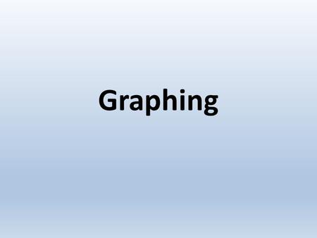 Graphing. Types of graphs There are many different types of graphs, and each one shows information a little differently. Three of the most common types.