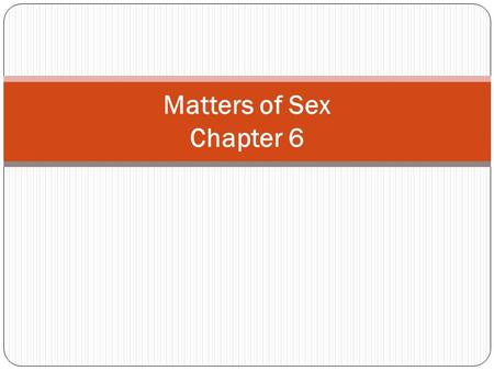 Matters of Sex Chapter 6.