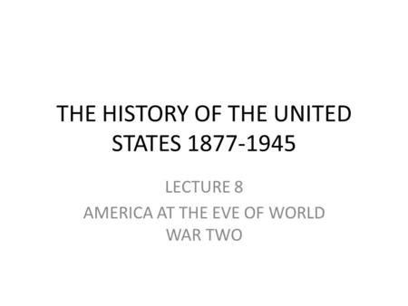 an introduction to the history of the year 1941 in america School history is a growing library of premium quality history worksheets, teaching resources and online history courses for use in the classroom safe & secure.