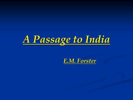 essays on em forster