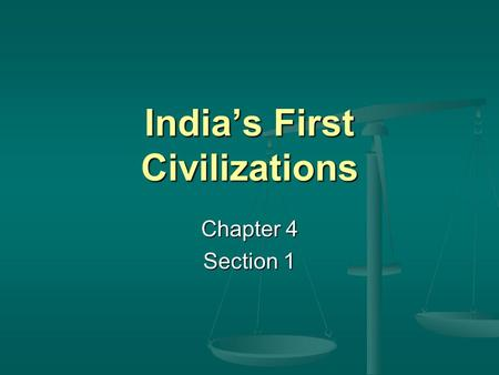 India's First Civilizations Chapter 4 Section 1. Did You Know? As dangerous as monsoon flooding can be, drought is much more devastating to the people.