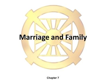 Marriage and Family Chapter 7. Institute for American Values, 1841 Broadway, Suite 211, NY, New York 10023 Sixteen top American Scholars on Family Life.