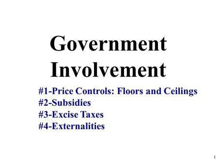 us government control and subsidy of