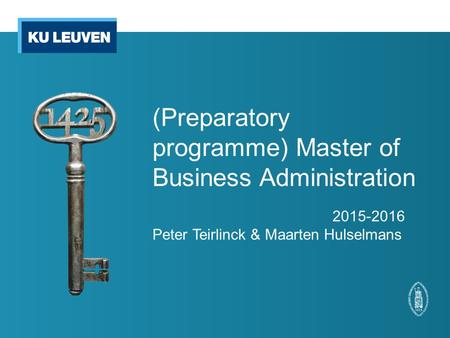 (Preparatory programme) Master of Business Administration