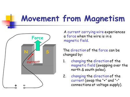Movement from Magnetism