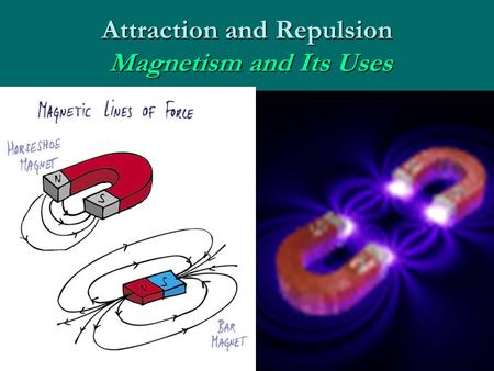 Attraction and Repulsion Magnetism and Its Uses. Magnetism Discovered over 2000 years ago in Magnesia, TurkeyDiscovered over 2000 years ago in Magnesia,