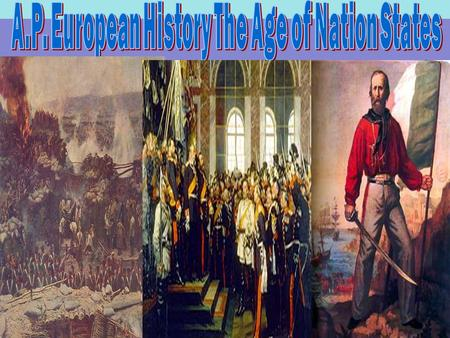 WORTH: 100 200 300 400 500 German Unification Italian Unification France 3 rd Republic Austria Russia The Age of Nation States.