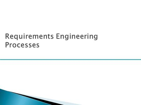  To describe the principal requirements engineering activities and their relationships  To introduce techniques for requirements elicitation and analysis.