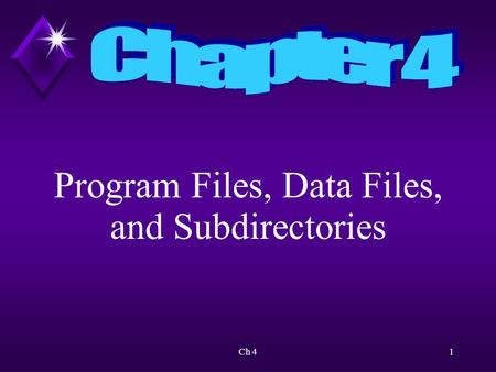Ch 41 Program Files, Data Files, and Subdirectories.