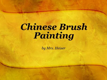 Chinese Brush Painting by Mrs. Heiser. Brushes and Name Seals.