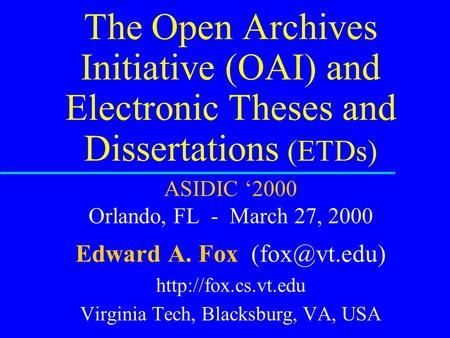 digital libraries electronic theses and dissertations etds Electronic theses and dissertations  the library's online catalogue and the.