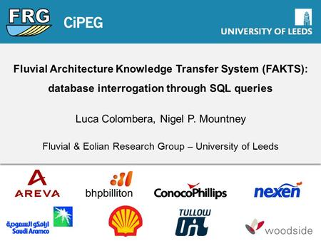 Fluvial Architecture Knowledge Transfer System (FAKTS): database interrogation through SQL queries Luca Colombera, Nigel P. Mountney Fluvial & Eolian Research.