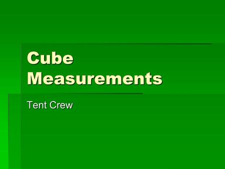 Cube Measurements Tent Crew. Scintillation BNL 241 Am Semi- collimated  Spectralon Diffuse UV Reflector SBD  -Trigger Scint. Light Poisson.