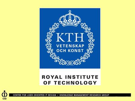 KMR/KTH contributions to Prolearn WPs 1/4/5 Ambjörn Naeve Knowledge Management Research group Centre for user-oriented IT Design Royal Institute of.