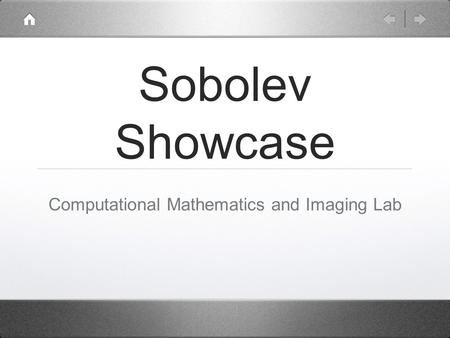 Sobolev Showcase Computational Mathematics and Imaging Lab.