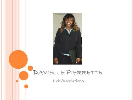 D AVIELLE P IERRETTE Public Relations. P UBLIC R ELATIONS P ROFESSIONAL Get a spring semester internship at a Public Relations firm Networking- meet 2.
