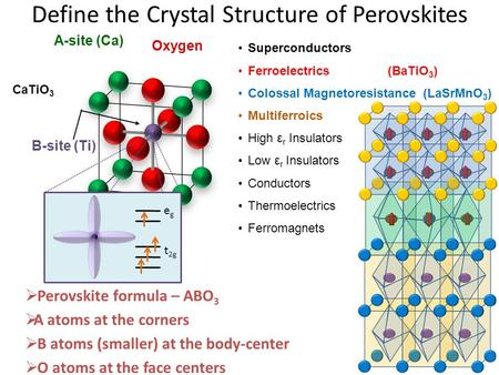 Define the Crystal Structure of Perovskites