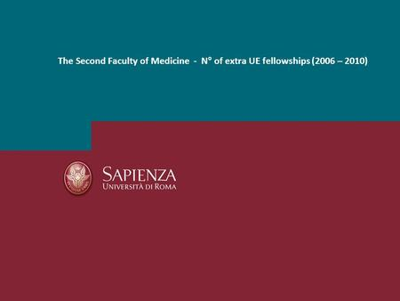 The Second Faculty of Medicine - N° of extra UE fellowships (2006 – 2010)
