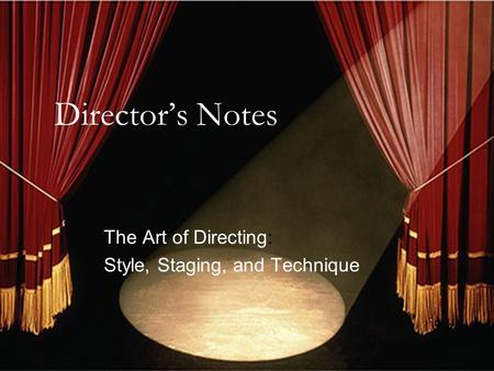 the art of directing actors pdf