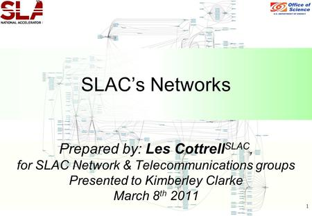 1 Prepared by: Les Cottrell SLAC, for SLAC Network & Telecommunications groups Presented to Kimberley Clarke March 8 th 2011 SLAC's Networks.