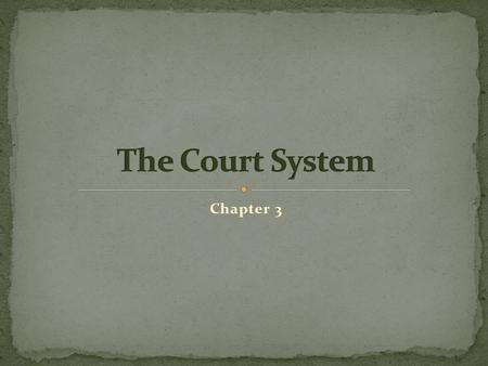 Chapter 3. Purpose: Solving legal disputes and upholding legal rights.
