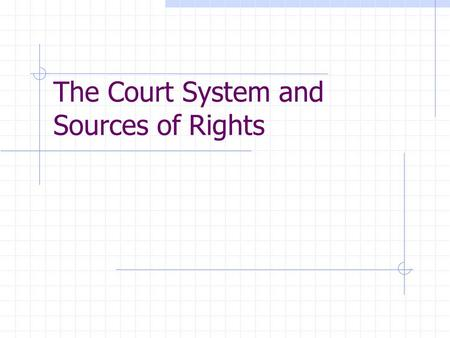 The Court System and Sources of Rights. Structure of the Court System Dual court system – one for federal cases and one for state cases 52 separate judicial.