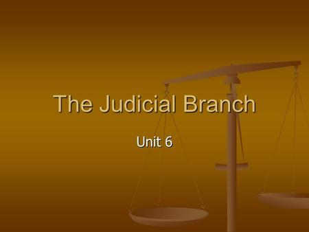 The Judicial Branch Unit 6. The creation of The Federal Court System The Constitution granted: The Supreme Court Appellate jurisdiction The Supreme Court.