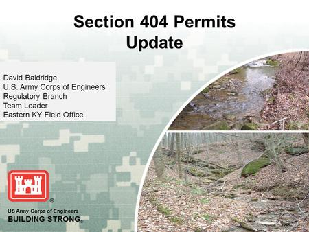 Section 404 Permits Update