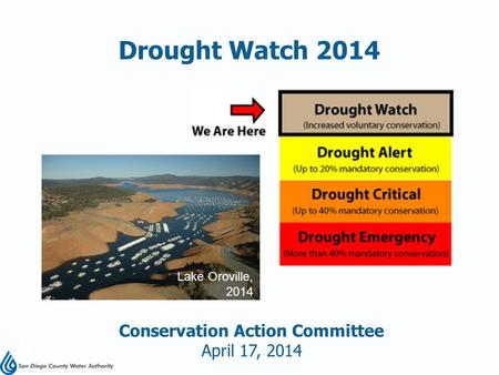Conservation Action Committee April 17, 2014 Drought Watch 2014 Lake Oroville, 2014.