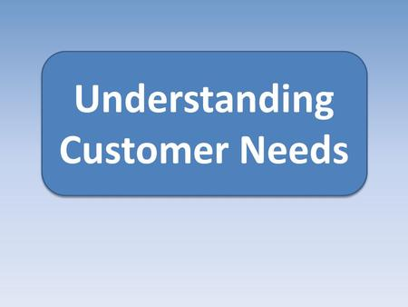 Understanding Customer Needs. Today…. Understand why customer needs are important Understand primary research.