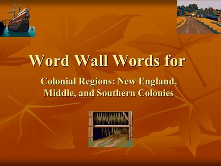 Colonial Regions: New England, Middle, and Southern Colonies