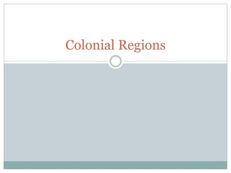 Colonial Regions. Set-up Cornell Notes IN Pages 59-60 Title: The Colonies Develop Essential Question: How did the colonial regions differ in terms of.