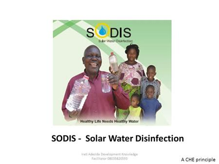SODIS - Solar Water Disinfection