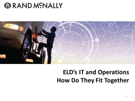 ELD's IT and Operations How Do They Fit Together 1.