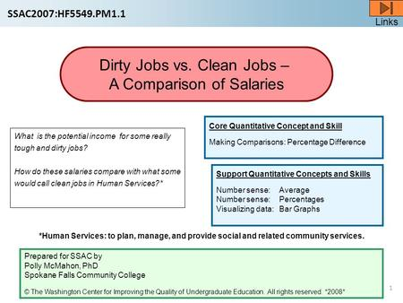 Links 1 What is the potential income for some really tough and dirty jobs? How do these salaries compare with what some would call clean jobs in Human.