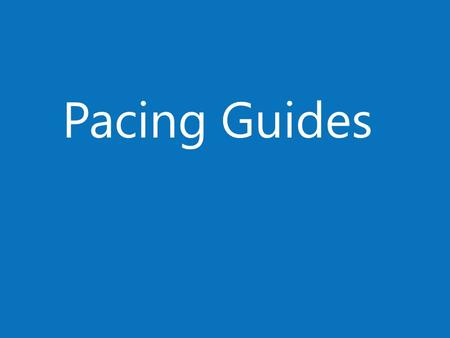 Pacing Guides. Pacing (based on 8 week/40 day program) Lesson PlansE-LearningProjects 2 Days/ 5% Lesson 1 : Understanding the Word Window and Creating.