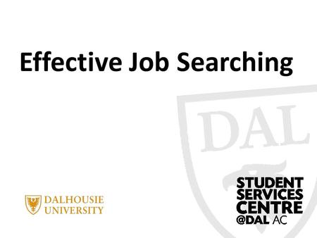 Effective Job Searching. Today's objectives… Identify the six steps to an effective job search Define what an action plan is Create an action plan for.
