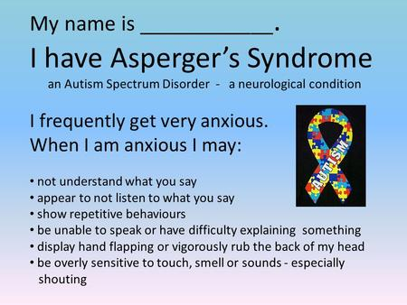 an analysis of the asperger syndrome as a neurological disorder