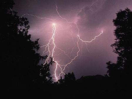 Lightning Lightning is a discharge of electrical energy. May occur: –Between cells in the same storm (Inter-cloud Lightning) –Within a cloud.
