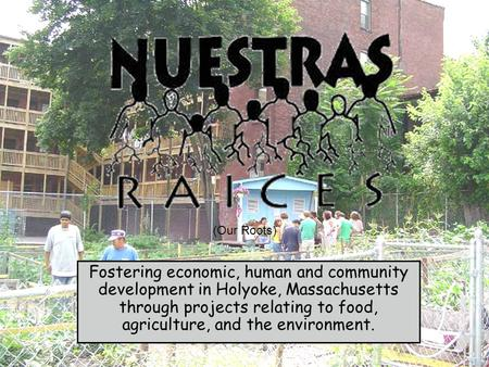 Fostering economic, human and community development in Holyoke, Massachusetts through projects relating to food, agriculture, and the environment. (Our.