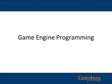 Game Engine Programming. Game Engine Game Engine Rendering Engine (OGRE) Rendering Engine (OGRE) Physics Engine (Bullet) Physics Engine (Bullet) Input/Output.